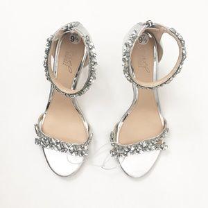 Badgley Mischka Crystal-Embellished Heels